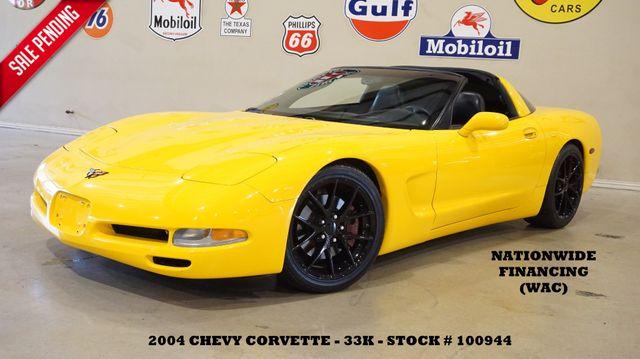 2004 Chevrolet Corvette Coupe 6 SPD,HUD,LEATHER,EXHAUST,BLK WHLS,33K