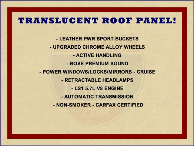 2004 Chevrolet Corvette UPGRADED CHROME WHEELS - TRANSLUCENT TOP! Mooresville , NC 1