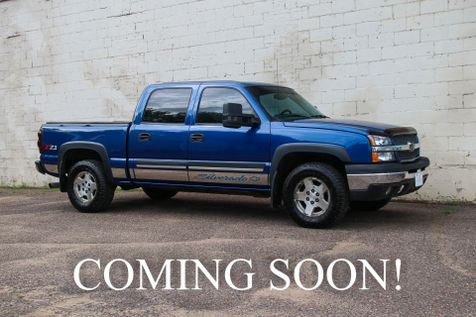 2004 Chevrolet Silverado 1500 Crew Cab Z71 4x4 with 5.3L V8, Power Seat, Dual-Zone A/C, Tonneau Cover & Tow Pkg in Eau Claire