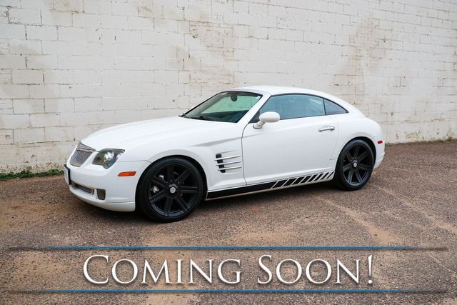 2004 Chrysler Crossfire Coupe w/6-Speed Manual, Blacked Out Wheels, Heated Seats and Magnaflow Exhaust