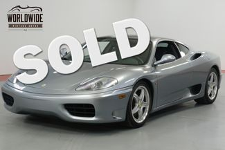 2004 Ferrari 360 MODENA. COLLECTOR GRADE. 16K MILES! RECORDS  | Denver, CO | Worldwide Vintage Autos in Denver CO