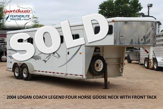 2004 Logan Coach LEGEND FOUR HORSE FOUR HORSE 4H GOOSE NECK WITH FRONT TACK CONROE, TX