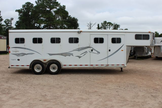 2004 Logan Coach LEGEND FOUR HORSE FOUR HORSE 4H GOOSE NECK WITH FRONT TACK CONROE, TX 21