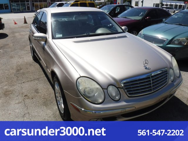 2004 Mercedes-Benz E320 3.2L Lake Worth , Florida 2