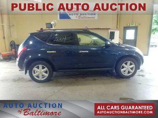2004 Nissan Murano SE   JOPPA, MD   Auto Auction of Baltimore  in Joppa MD