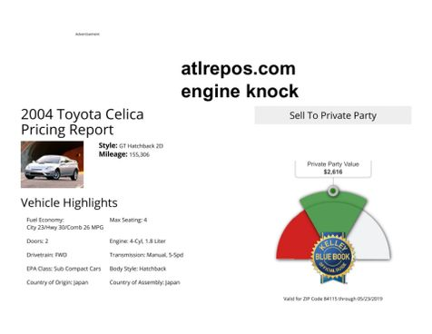 2004 Toyota Celica GT in Salt Lake City, UT