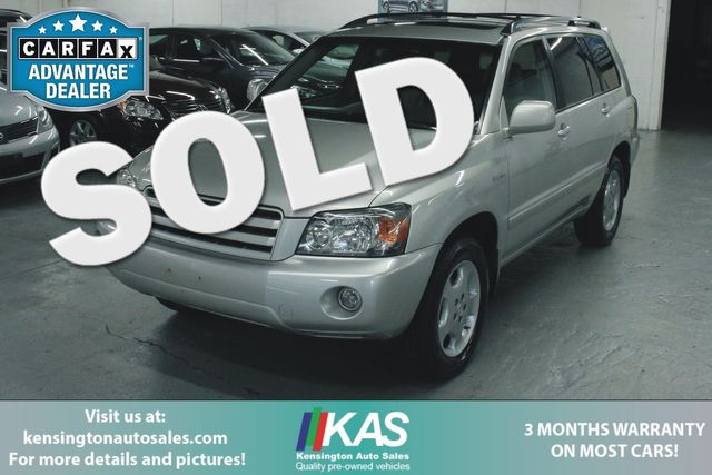 2004 Toyota Highlander Limited Navi 4WD Kensington, Maryland