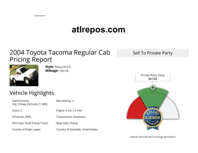 2004 Toyota Tacoma Salt Lake City, UT