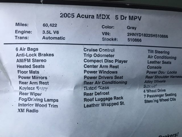 2005 Acura MDX Base Knoxville, Tennessee 19