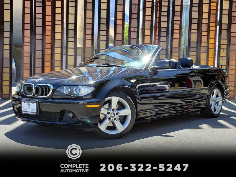 2005 BMW 325Ci Convertible Only 77000 Actual Miles 2 Owner Full History RARE  city Washington  Complete Automotive  in Seattle, Washington