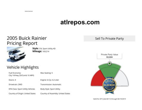2005 Buick Rainier CXL in Salt Lake City, UT