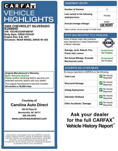 2005 Chevrolet Silverado 2500HD LS Crew Cab 4x4 - LEATHER - DURAMAX - ALLISON! Mooresville , NC 3