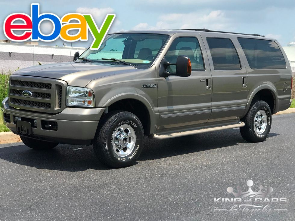 2005 Ford Excursion Limited Turbo Diesel 51k Mile 1 Owner 4x4 Dvd