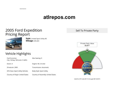 2005 Ford Expedition Limited in Salt Lake City, UT