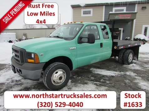 2005 Ford F-350 4x4 Ex-Cab Flatbed Truck  in St Cloud, MN