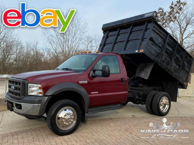 2005 Ford F550 4x4 Diesel Central HYDRAULIC LANDSCAPE DUMP LOW MILES