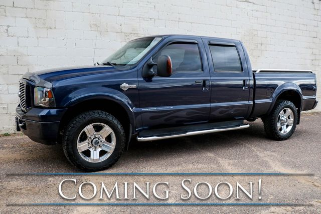 2005 Ford F-250 Super Duty Harley-Davidson Turbo Diesel 4x4 w/Heated Seats, Moonroof and 2-Tone Interior