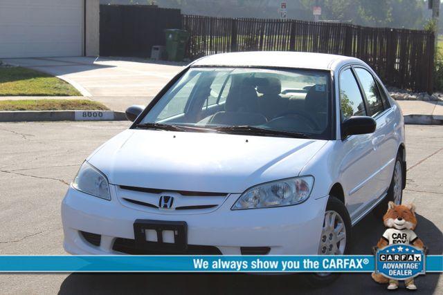 2005 Honda CIVIC LX SEDAN 4 DOORS SERVICE RECORDS AVAILABLE