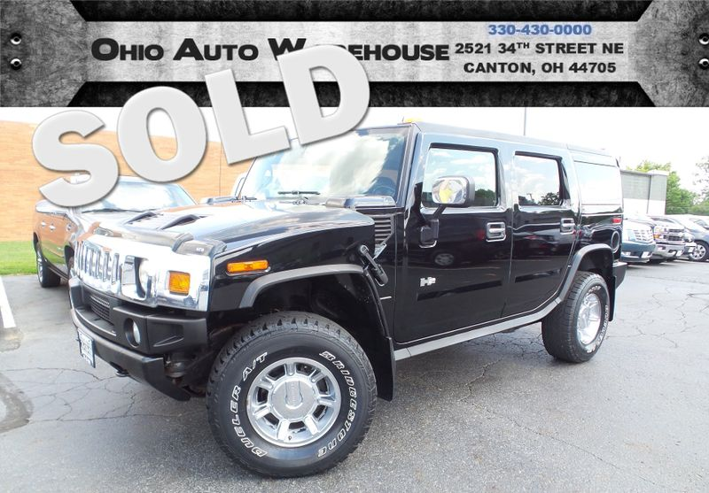2005 Hummer H2 4x4 Navi Sunroof 3rd Row Clean Carfax We Finance | Canton, Ohio | Ohio Auto Warehouse LLC in Canton Ohio