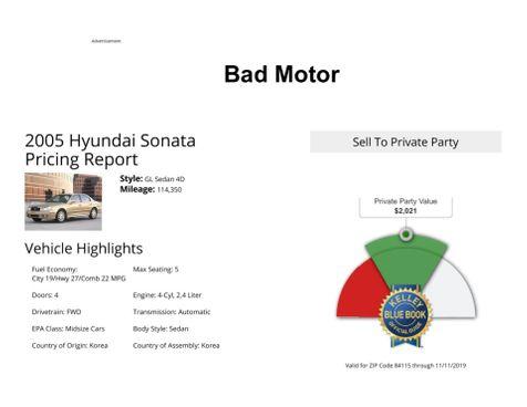 2005 Hyundai Sonata GL in Salt Lake City, UT