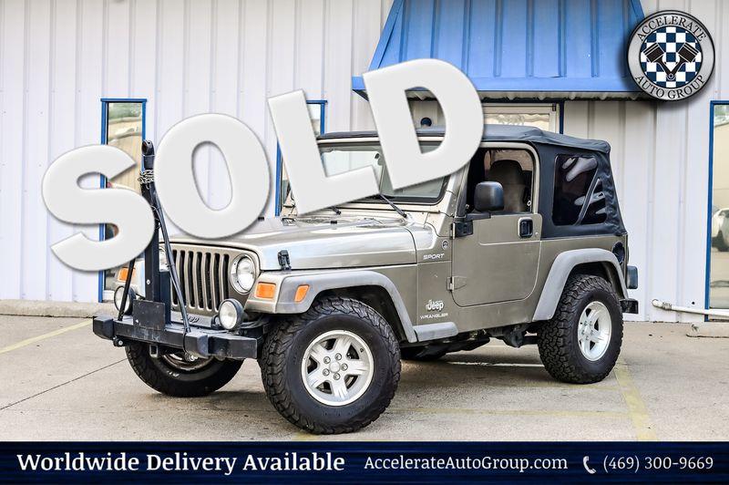 2005 Jeep Wrangler 4.0L I-6 6-SPD MANUAL SPORT 4X4 CLEAN CARFAX NICE! in Rowlett Texas