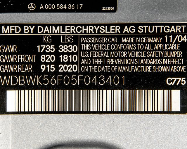 2005 Mercedes-Benz SLK350 6 SPEED Burbank, CA 24