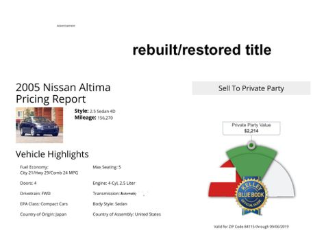 2005 Nissan Altima 2.5 S in Salt Lake City, UT