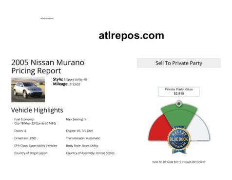 2005 Nissan Murano SL in Salt Lake City, UT