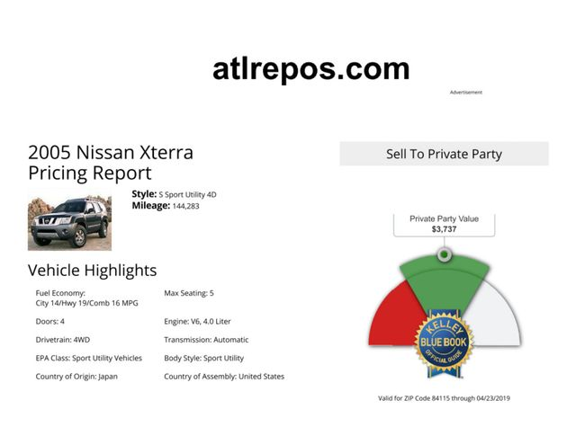 2005 Nissan Xterra S Salt Lake City, UT