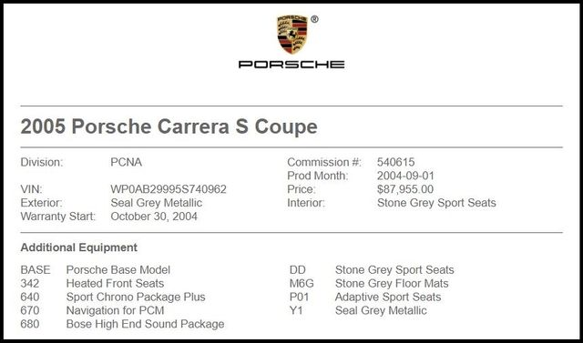 2005 Porsche 911 in Carrollton TX