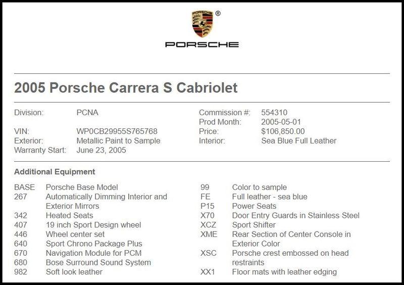 2005 Porsche 911 Carrera S Cabriolet in Carrollton, TX