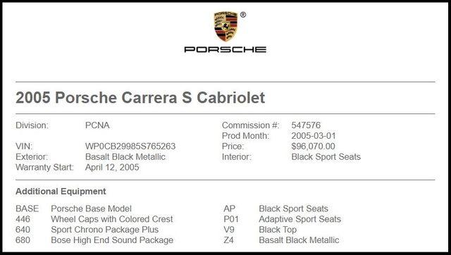 2005 Porsche 911 Carrera S Cabriolet-[ 2 ]