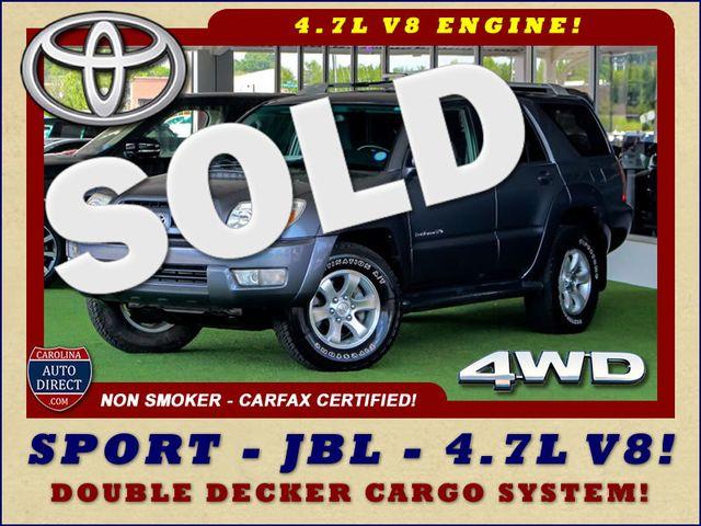 2005 Toyota 4Runner SR5 Sport 4WD- JBL SOUND - CARGO SYSTEM - 4.7L V8! Mooresville , NC 0
