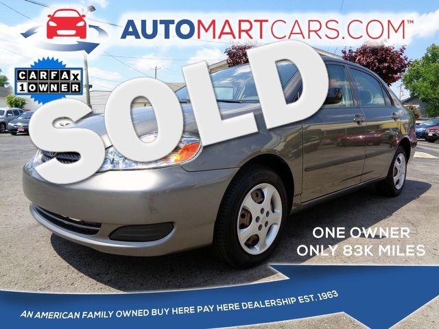 2005 Toyota Corolla CE | Nashville, Tennessee | Auto Mart Used Cars Inc. in Nashville Tennessee