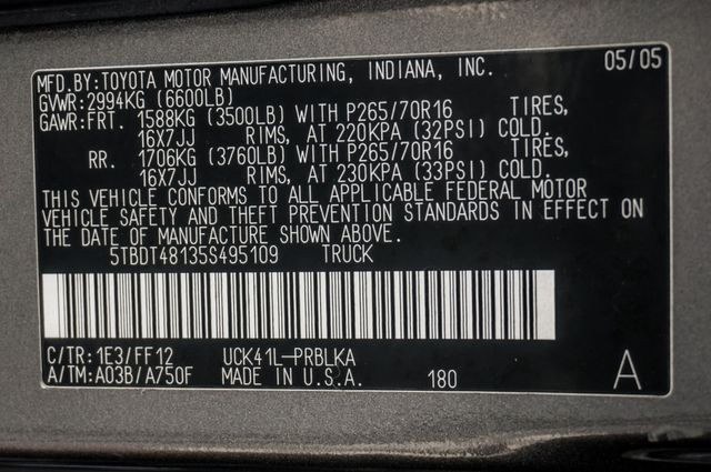 2005 Toyota Tundra Ltd 4WD - CAMPER - TOW PKG Reseda, CA 39