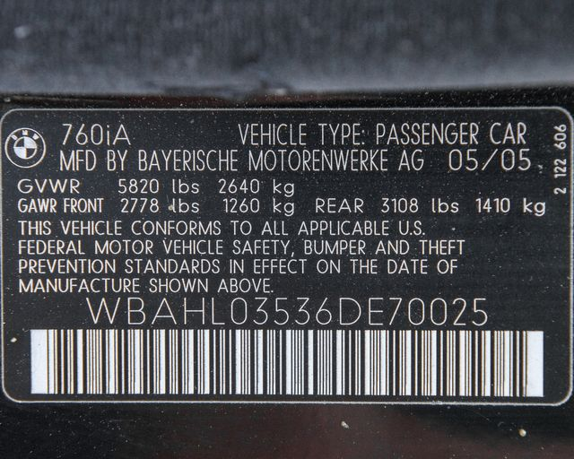 2006 BMW 760i Burbank, CA 32