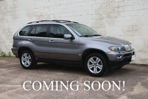 2006 BMW X5 xDrive AWD V8 Sport SUV w/Navigation, Backup Cam, Cold Weather Pkg & Panoramic Moonroof in Eau Claire
