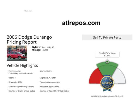 2006 Dodge Durango SXT in Salt Lake City, UT