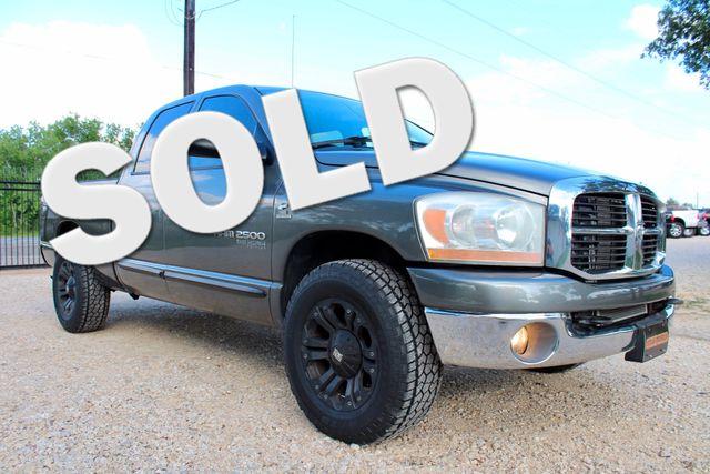 2006 Dodge Ram 2500 SLT Big Horn Quad Cab 2WD 5.9L Cummins Diesel 6 Speed Manual Sealy, Texas