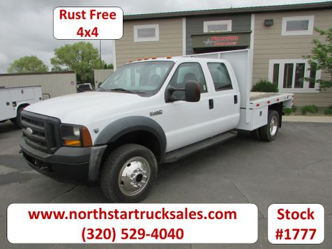 2006 Ford F-450 4x4 Crew-Cab Flatbed Truck  in St Cloud, MN