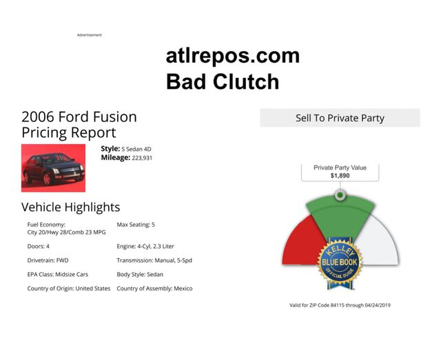 2006 Ford Fusion SEL Salt Lake City, UT