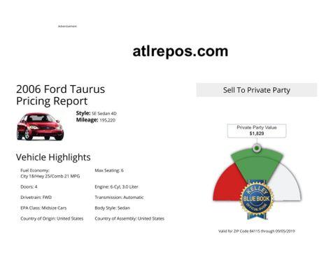 2006 Ford Taurus SE in Salt Lake City, UT