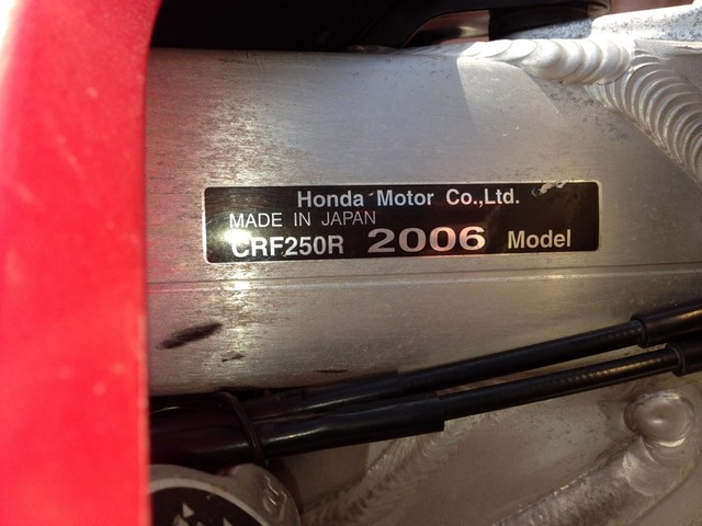 2006 Honda CRF 250R in Gonzales, Louisiana 70737