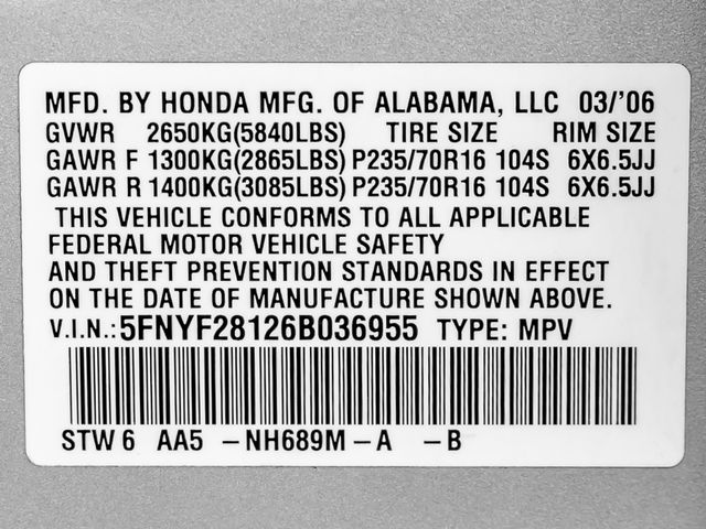 2006 Honda Pilot LX Burbank, CA 23