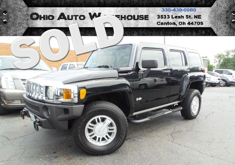 2006 Hummer H3 4x4 Leather Sunroof Clean Carfax We Finance | Canton, Ohio | Ohio Auto Warehouse LLC in Canton Ohio