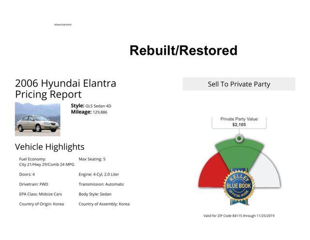 2006 Hyundai Elantra GLS Salt Lake City, UT