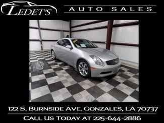 2006 Infiniti G35  - Ledet's Auto Sales Gonzales_state_zip in Gonzales