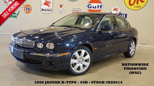 2006 Jaguar X-TYPE Sedan AWD SUNROOF,LEATHER,ALPINE,17IN WHLS,69K