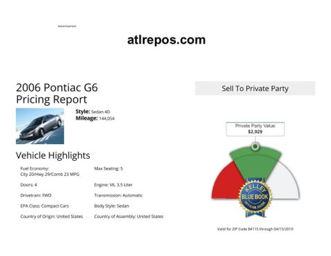 2006 Pontiac G6 GT in Salt Lake City, UT