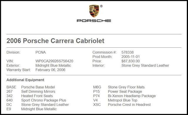 2006 Porsche 911 Carrera Cabriolet-[ 2 ]